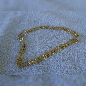 Monet gold necklace